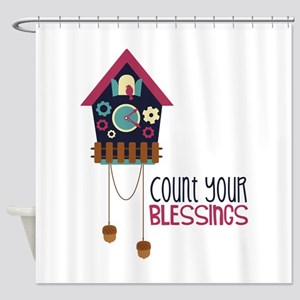 Count Your Blessincs Shower Curtain