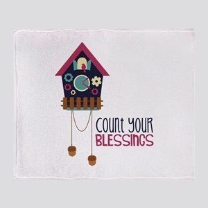 Count Your Blessincs Throw Blanket