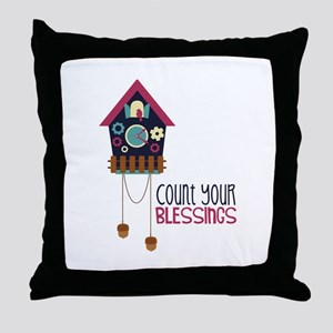 Count Your Blessincs Throw Pillow