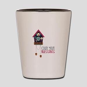 Count Your Blessincs Shot Glass