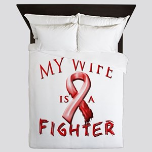 My Wife Is A Fighter Red Queen Duvet
