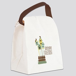 Welcome Friends Canvas Lunch Bag