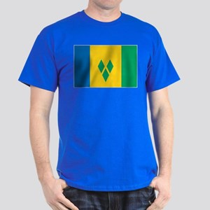 St Vincent Grenadines Flag Dark T-Shirt