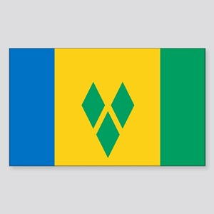 St Vincent Grenadines Flag Sticker (Rectangle)