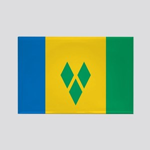 St Vincent Grenadines Flag Rectangle Magnet