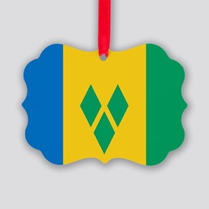 St Vincent Grenadines Flag Picture Ornament