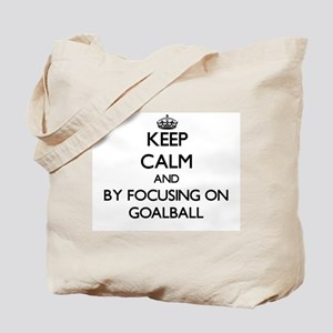 Keep calm by focusing on Goalball Tote Bag