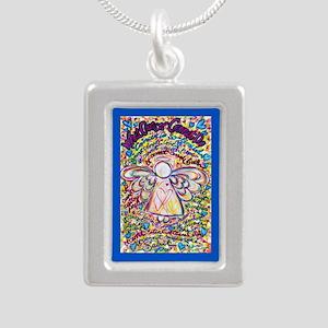 Spring Heart Cancer Ange Silver Portrait Necklace