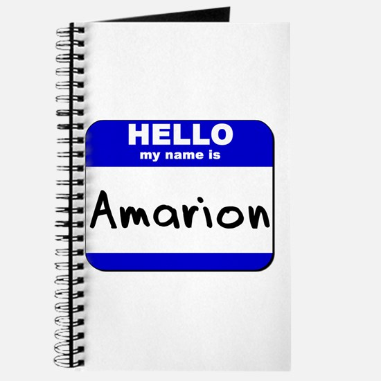 hello my name is amarion Journal