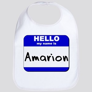 hello my name is amarion  Bib