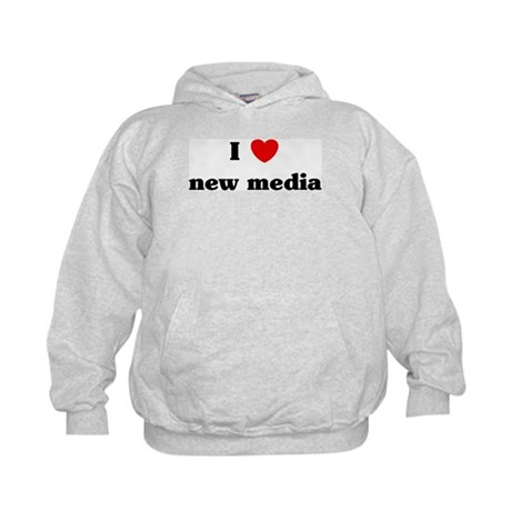 I Love new media Kids Hoodie