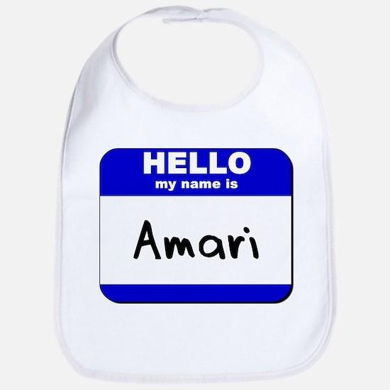 hello my name is amari  Bib