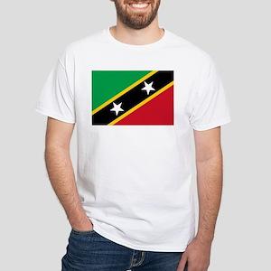 St Kitts Nevis Flag White T-Shirt
