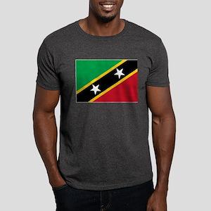 St Kitts Nevis Flag Dark T-Shirt