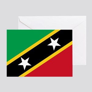St Kitts Nevis Flag Greeting Card