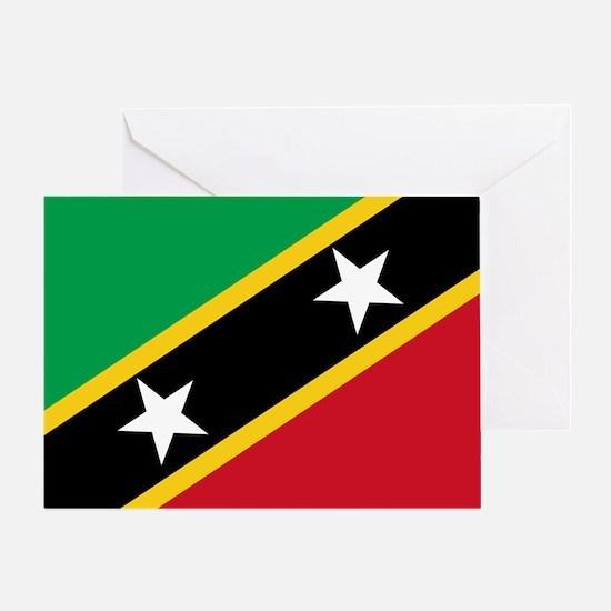St Kitts Nevis Flag Greeting Card