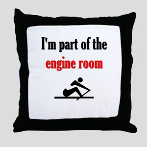 I'm part of the engine room (pic) Throw Pillow