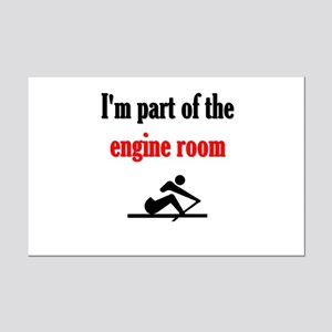 I'm part of the engine room (pic Mini Poster Print