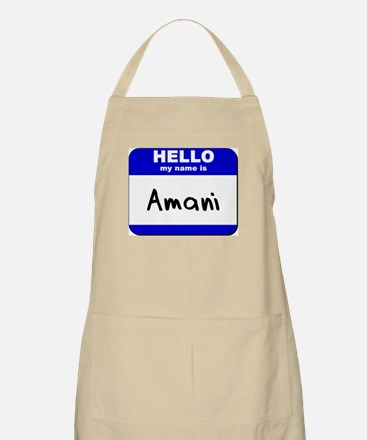 hello my name is amani  BBQ Apron