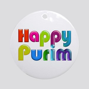 Happy Purim Ornament (Round)
