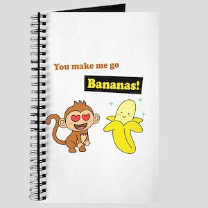 You make me go Bananas, Cute Love Humor Journal
