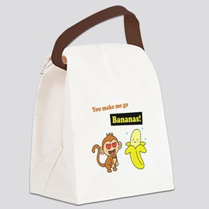 You make me go Bananas, Cute Love Humor Canvas Lun