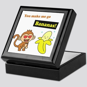 You make me go Bananas, Cute Love Humor Keepsake B