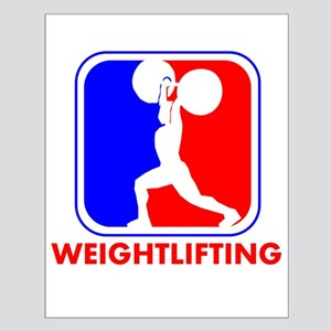 Weightlifting League Logo Poster Design