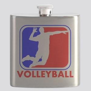 Volleyball League Logo Flask