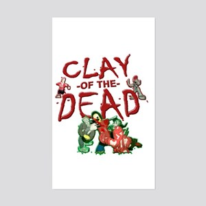 Clay of the Dead Rectangle Sticker