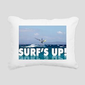 Surfs Up Windsurfer in t Rectangular Canvas Pillow