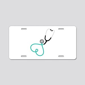 Heart Stethoscope Aluminum License Plate