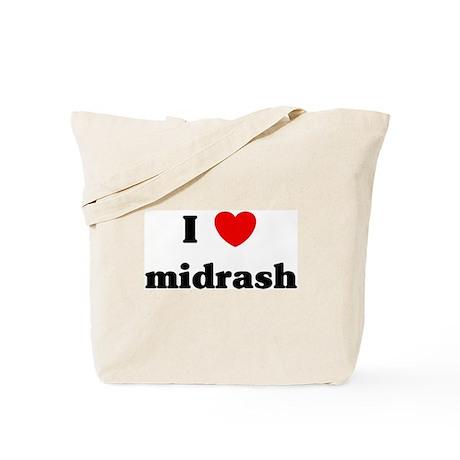 I Love midrash Tote Bag