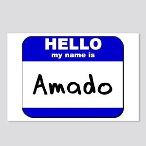 hello my name is amado  Postcards (Package of 8)