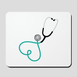 Heart Stethoscope Mousepad
