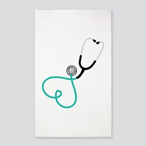 Heart Stethoscope 3'x5' Area Rug