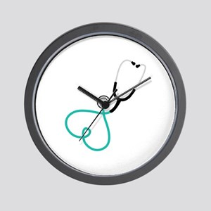 Heart Stethoscope Wall Clock