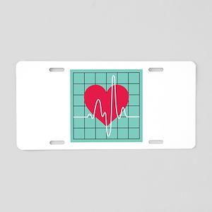 EKG Monitor Aluminum License Plate