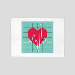 EKG Monitor 5'x7'Area Rug