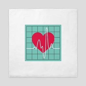 EKG Monitor Queen Duvet
