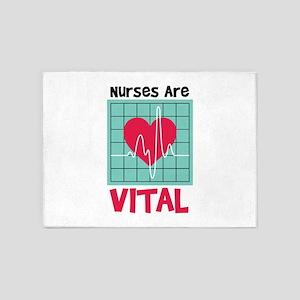 Nurses Are Vital 5'x7'Area Rug