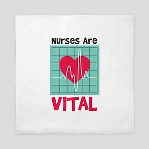 Nurses Are Vital Queen Duvet