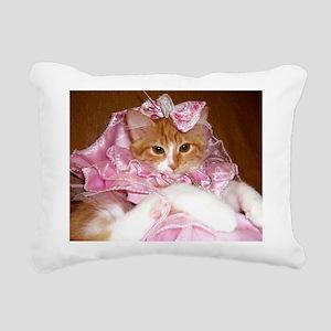 Kitten Wearing Dress Rectangular Canvas Pillow