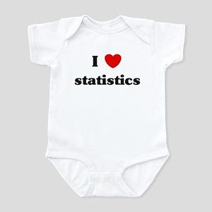 I Love statistics Infant Bodysuit