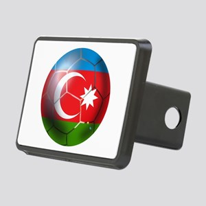 Azerbaijan Soccer Rectangular Hitch Cover