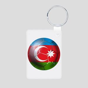 Azerbaijan Soccer Aluminum Photo Keychain
