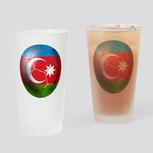 Azerbaijan Soccer Drinking Glass