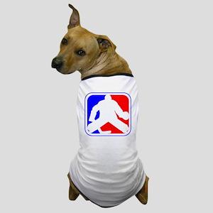 Hockey Goalie League Logo Dog T-Shirt