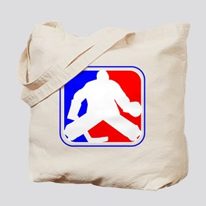 Hockey Goalie League Logo Tote Bag