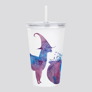 Witch llama Acrylic Double-wall Tumbler